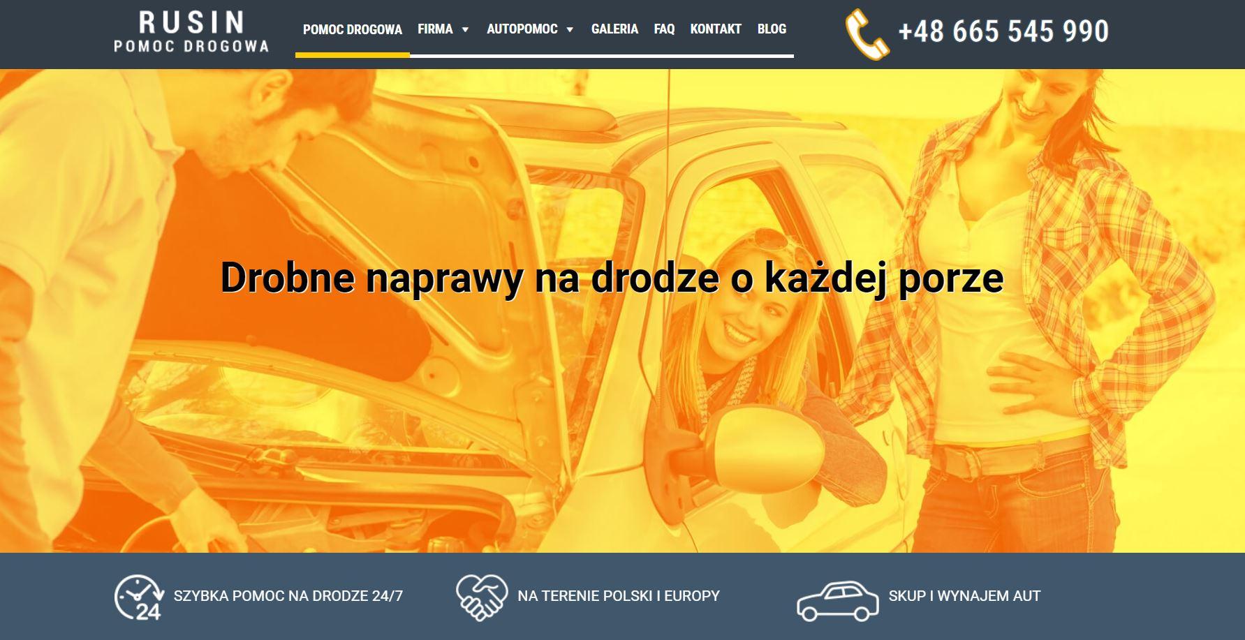 Rusin pomoc drogowa auto laweta Zgorzelec